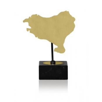 MAPA DE PAIS VASCO DE LATÓN. 3 TAMAÑOS