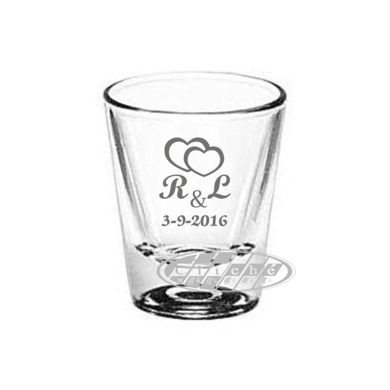 Vaso de chupito personalizado cristal 4 8 cl for Vasos chupito personalizados