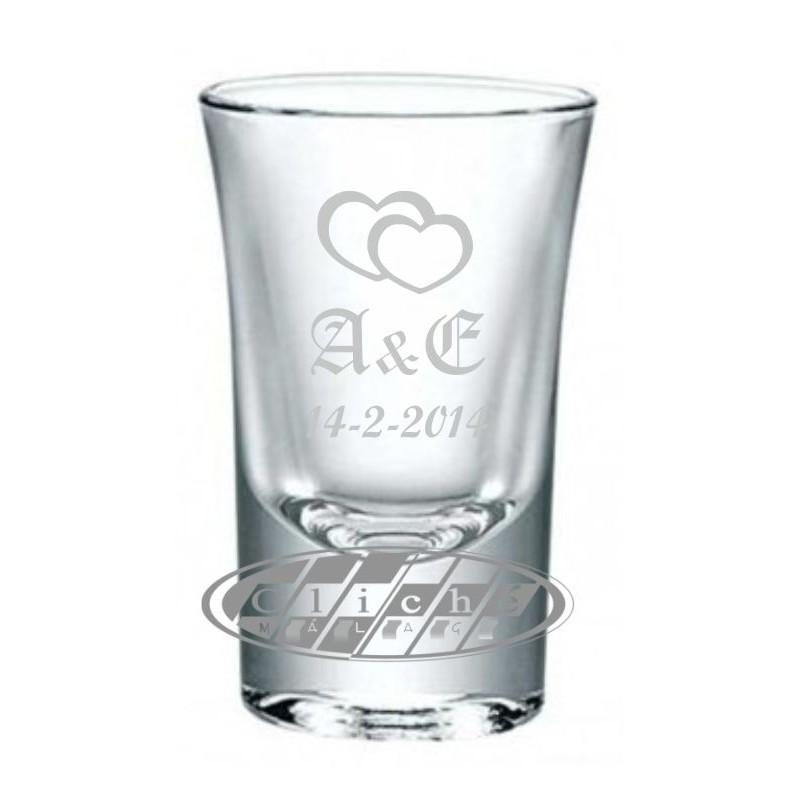Vaso de chupito grabado corto cristal 4 2 cl for Vaso chupito