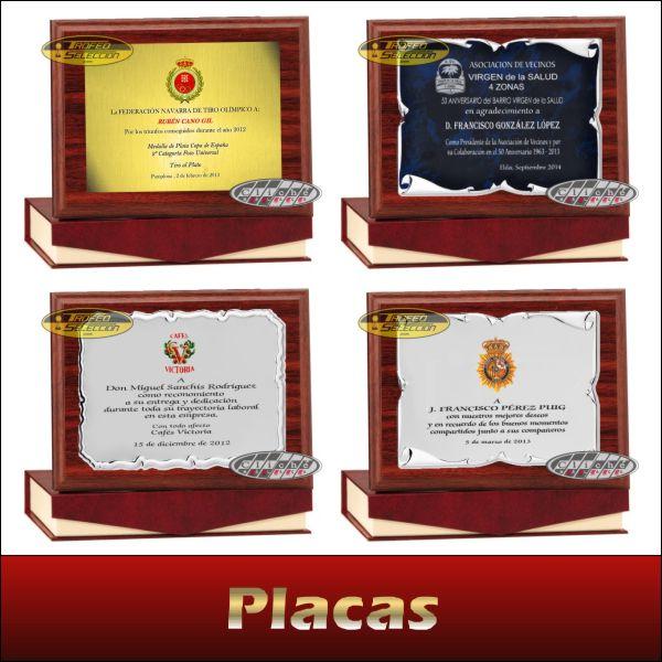 Placas conmemorativas y de homenaje