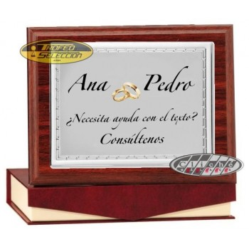 PLACA DE HOMENAJE PERSONALIZADA A COLOR. 3 T.