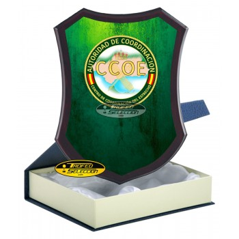 METOPA DE MADERA CON PLACA CCOE - GUARDIA CIVIL