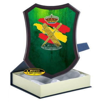 METOPA DE MADERA C/ PLACA PERSONALIZADA A COLOR - GUARDIA CIVIL